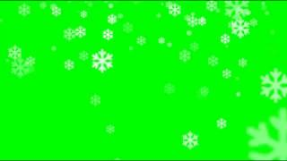 SNOW FLAKES GREEN SCREEN