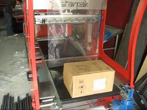 shrink paketleme ambalaj makinası polietilen tam otomatik makina//www.starpak.com.tr.wmv