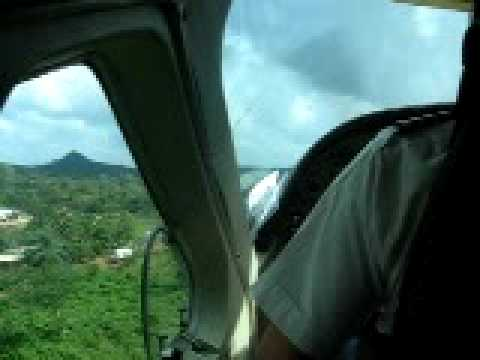 Take off in a light aircraft, San Carlos, Nicaragua