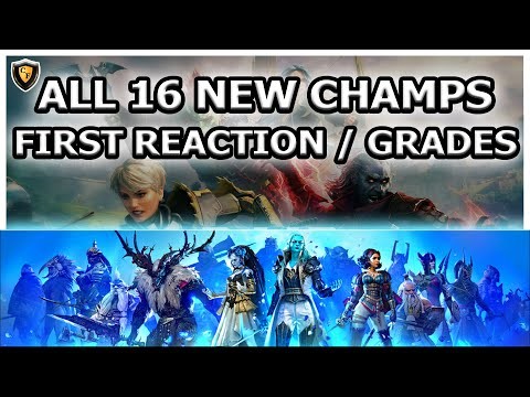 RAID Shadow Legends | ALL 16 NEW CHAMPS LIVE FIRST REACTION / GRADES
