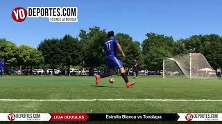 El super Líder de Chicago Estrella Blanca golea 7-0 al Tonalapa en la Liga Douglas