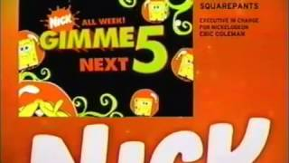SpongeBob Gimme 5 Promo (March 3-7, 2008)
