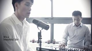 Crush-Beautiful Cover (acoustic piano vers.) covered by Judy Chou ft. Jeff Lu