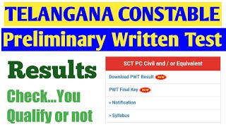 Telangana constable prelims exam results announced and how to check online ts constable results