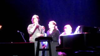 "Josh Groban asks a fan to join him in duet ""The Prayer"""