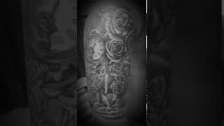 Roses clock tattoo by Mare...mr.Nemo