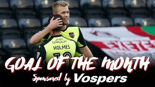 Jayden Stockley on winning Vospers' Goal of the Month for January | Exeter City Football Club