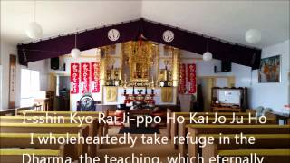 Buddhist Sutra Chanting: Sanborai, Veneration of the Three Treasures