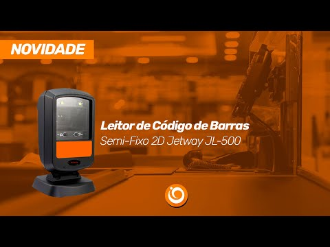 Leitor de Código de Barras Semi-Fixo 2D Jetway JL-500