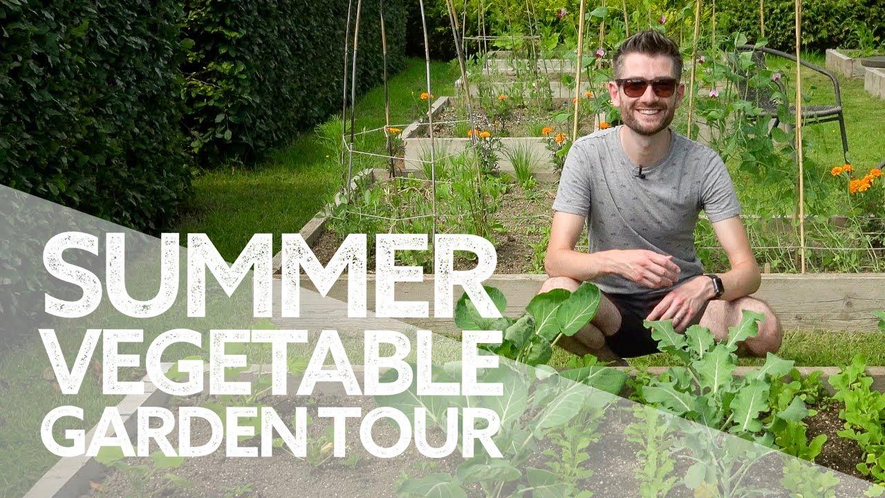 My First Vegetable Garden Tour! | Summer Potager Veg Plot 2021