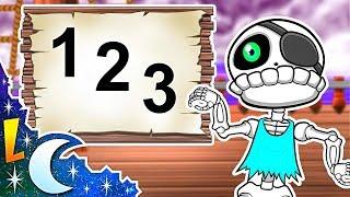 La Canción de los Números del 1 al 10 | Los Piratas Esqueletos | Videos Educativos | Lunacreciente