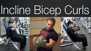 Incline Bench Bicep Curls Workout