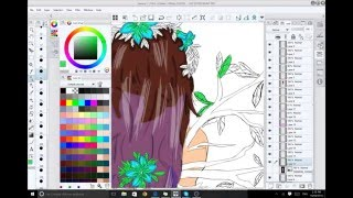 Navara Queen of Nature speed drawing