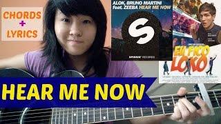 Alok & Bruno Martini feat. Zeeba - HEAR ME NOW (acoustic cover KYN) + Lyrics + Chords