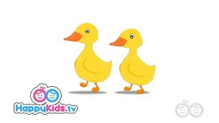 Two Little Ducks - Nursery Rhymes For Kids And Children | Happy Kids