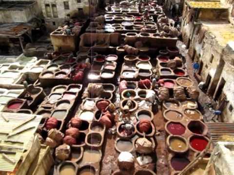 Gerberei von Fez in Marokko / Tannery of Fes in Morocco /  Tanneries de Fés Maroc