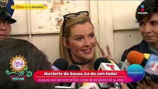 ¡Marjorie de Sousa y Julián Gil nuevamente frente a frente! | Sale el Sol