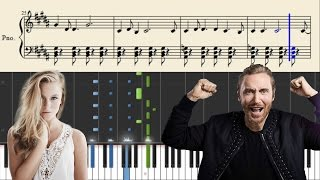 David Guetta ft. Zara Larsson - This One's For You - Piano Tutorial + Sheets & Midi