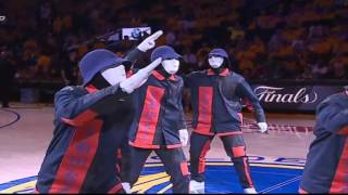 JABBAWOCKEEZ at the NBA Finals 2017.