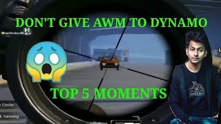 DON'T GIVE AWM TO DYNAMO TOP 5 SNIPING MOMENTS I PUBGMOBILE