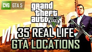 GTA 5 vs Real Life - 35 Real Life Locations Compared!