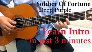 Deep Purple Soldier of Fortune Guitar Tutorial ( Intro ) - Guitar Lessons for Beginners
