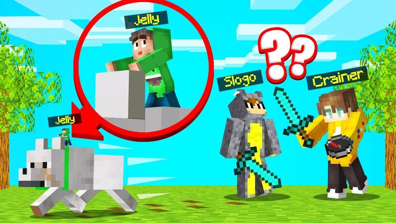 Jelly - MINI SPEEDRUNNER vs. HUNTERS In MINECRAFT! (Sneaky)