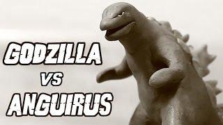 Godzilla vs Anguirus   Kaiju Claymation Fight width=