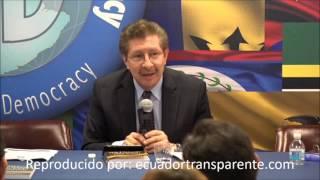 """Carlos S. Berzaín: """"gobierno ecuatoriano ha movido todo..tratando de evitar que se conozcan nombres"""""""