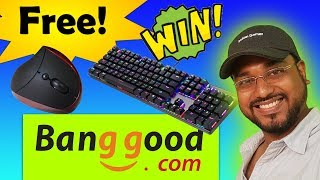 WIN RGB MECHANICAL KEYBOARD and WIRELESS ERGONOMIC MOUSE for free.