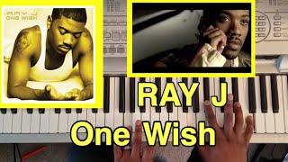 """Ray J """"One Wish """" easy piano tutorial"""