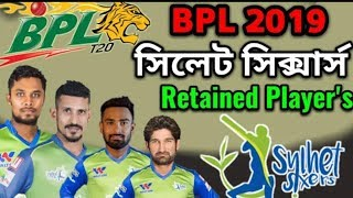 BPL 2019 Sylhet Sixers Retained Players List
