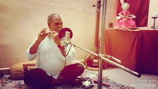 Suresh Kumar Saini playing the flute...