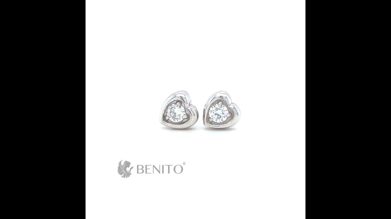 Livia Earrings White Zircon Stones