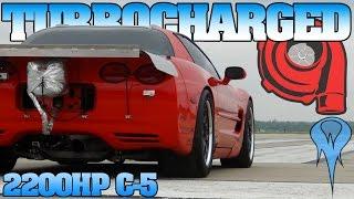 2200 hp Turbo c5 Corvette standing mile test & tune, Wilmington Ohio Mile 4-29-12