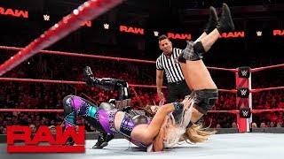 Natalya & Brooke vs. Logan & Morgan - WWE Women's Tag Team Title Qualifying Match: Raw, Jan 28, 2019