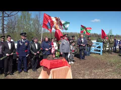 Торжественное захоронение останков солдата Петра Ирикова.