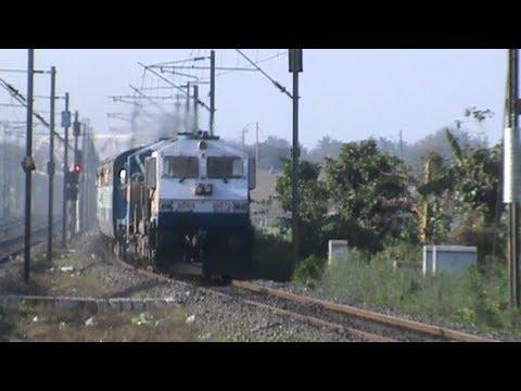 Bangladesh Railways' alco (6502 BED-30) and WDP-4 Himgiri SF accelerates past!!!