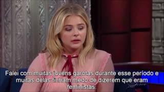 """Legendado: Chloe Moretz fala sobre feminismo no """"The Late Show"""""""