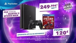 Black Friday PlayStation | PS4 500GB + Marvel's Spider-Man por apenas 249,99€! | PS4