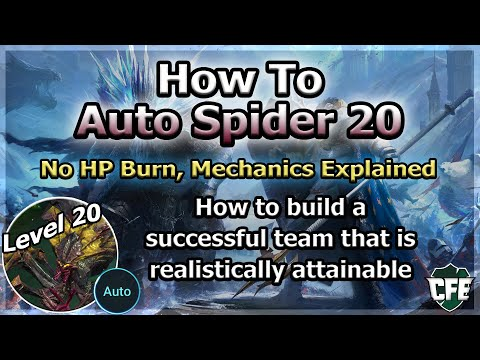 RAID Shadow Legends | How To Auto Spider 20 | No HP Burn / Mechanics Explained