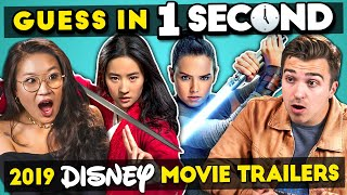GUESS IN 1 SECOND | 2019 DISNEY MOVIE TRAILER CHALLENGE