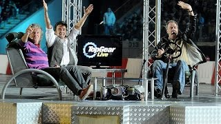 Niesamowity Jeremy Clarkson  !!! Scena z silnikiem V8- 580 koni !! TOP GEAR Live