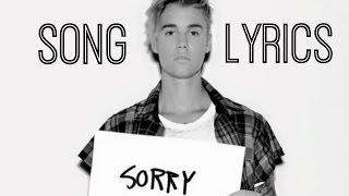 SORRY - Justin Bieber (Lyric Video) width=