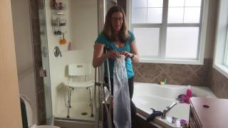 How to shower with crutches