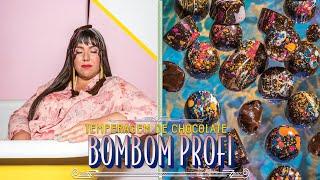 TEMPERAGEM DE CHOCOLATE E BOMBOM PROFISSIONAL | GANACHE DE MARACUJÁ | RAIZA COSTA