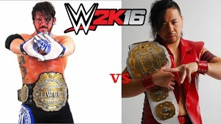 WWE 2K16: AJ Styles vs Shinsuke Nakamura (NJPW) (IWGP) (WK10)