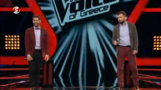 The Voice Greece - Νίκος vs Νίκος - 18/01/2017