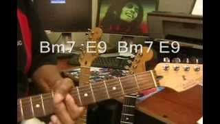 Bob Marley Jammin Electric Guitar Play Along Cover + Chords Jamming Jammin'