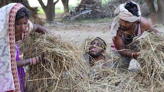 Bhojpuri Comedy | धान के खरिहानी सुते चिरकुटवा पतोह लेटे दलानी में | हाथ पे लागल घाव बाप रे बाप,Neha
